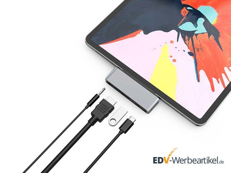 Adapter für USB C, Audio, Hdmi, USB 2 iPAD PRO und MACBOOK PRO - Produkt-Bild #1