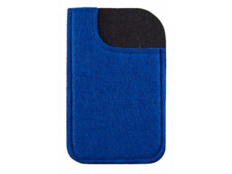 Filz Smartphone Tasche Giveaway blau