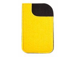 Smartphone Werbeartikel Filzhülle gelb