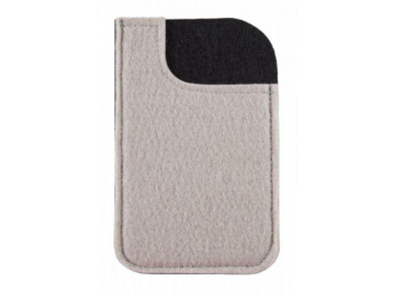 Smartphone Werbeartikel Filzhülle grau