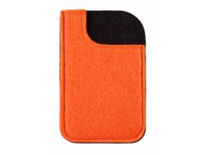 Smartphone Werbeartikel Filzhülle orange