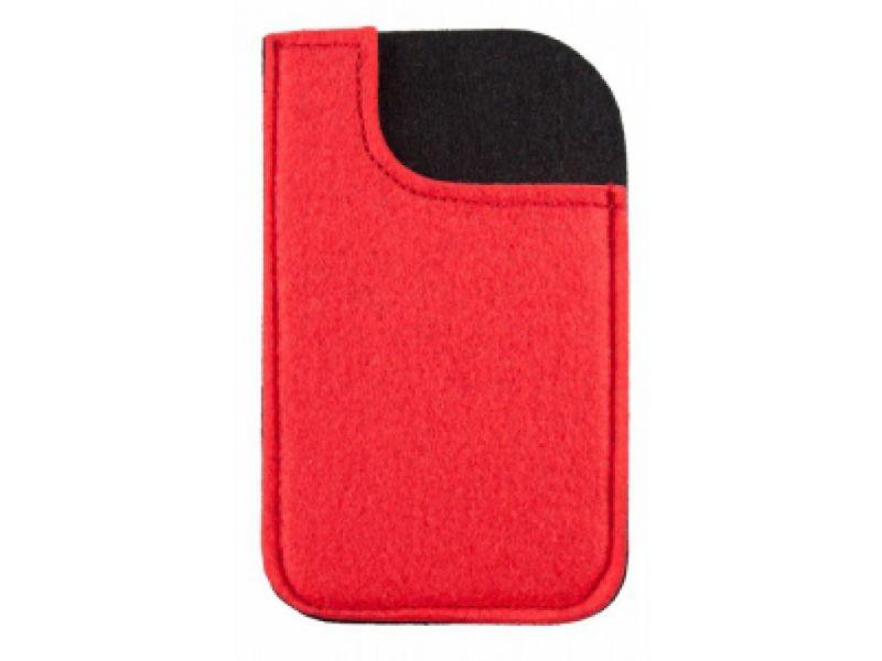 Smartphone Werbeartikel Filzhülle rot