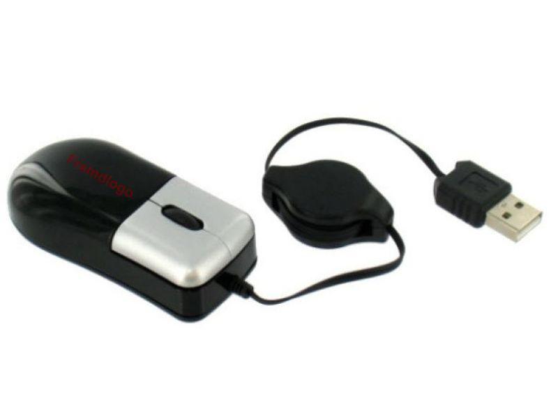 PC Maus mit Kabelrolle