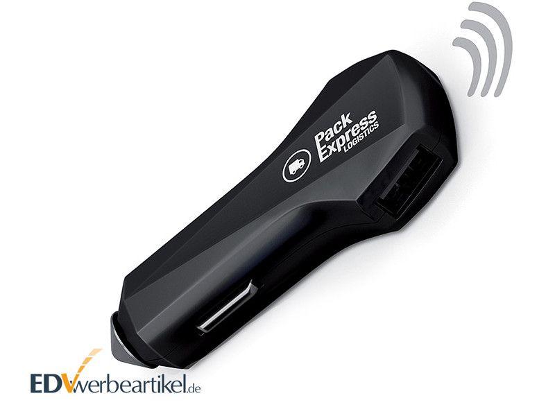 KFZ USB Ladegerät Werbeartikel CAR TRACKER