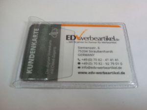 Visitenkarten-Etui transparent mit Lasche