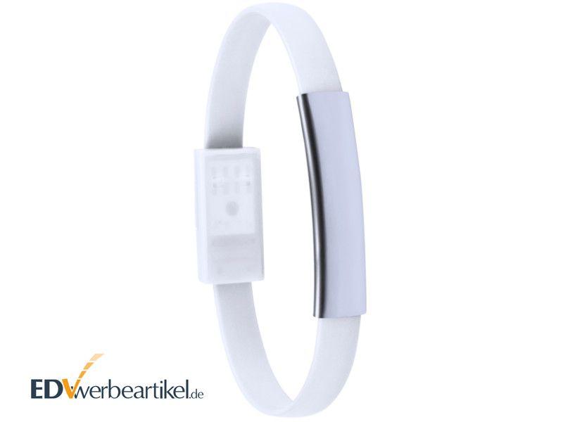 USB Ladekabel Armband mit Logo gravieren