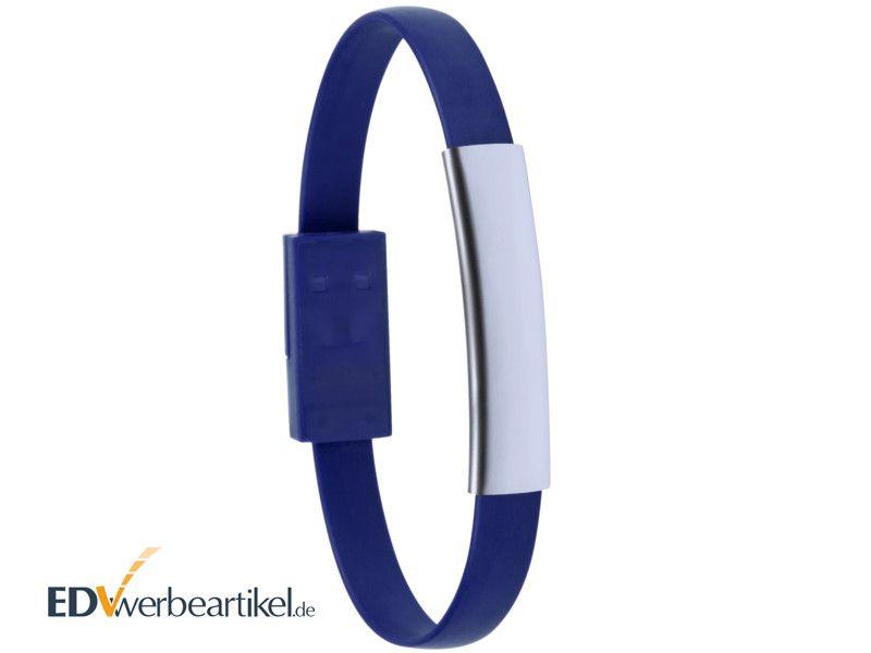 USB Ladekabel Armband Werbeartikel mit Logo