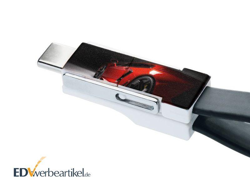 Ladekabel Schlüsselanhänger bedrucken
