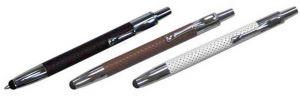 Leder Touchpen Kugelschreiber Kuli in schwarz, weiss und braun