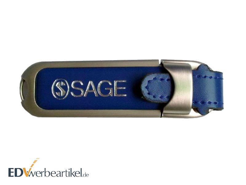 Leder USB Speicherstick mit Logo Prägung