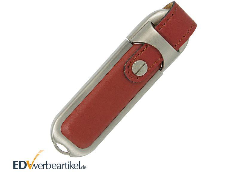 Leder USB Stick Werbegeschenk mit Logo prägen oder bedrucken HIGHSPEED