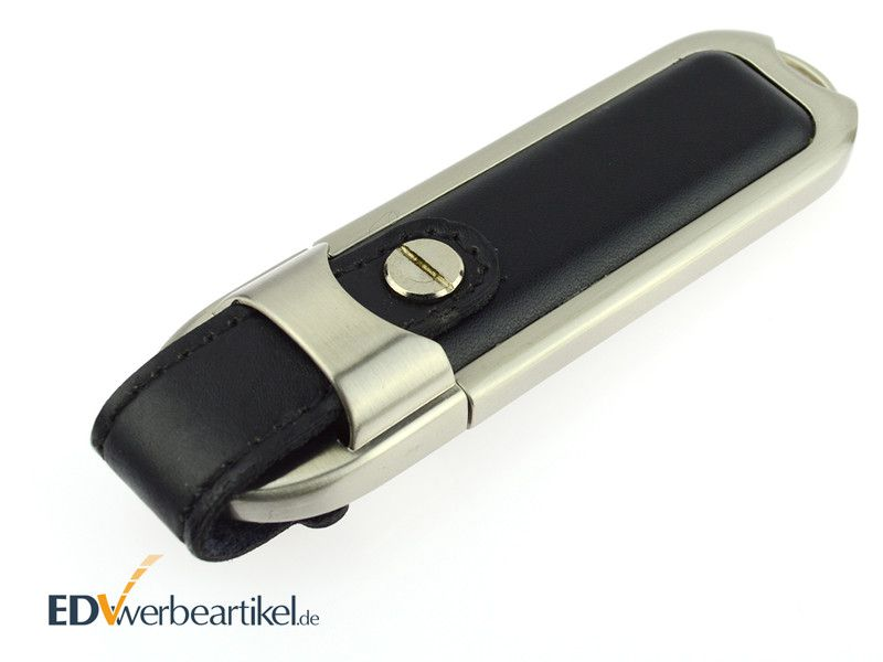 Leder USB Sticks mit Logo bedrucken oder prägen als Werbegeschenk - HIGHSPEED