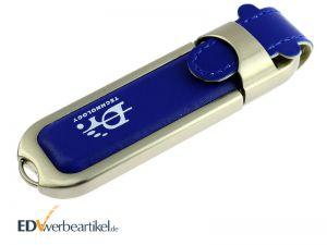 Leder USB Sticks mit Logo bedrucken oder prägen - als Werbeartikel oder Werbegeschenk HIGHSPEED