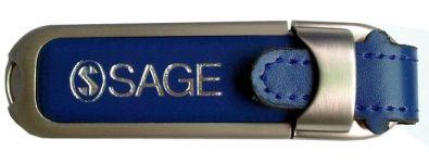 Produktionsbeispiel Leder USB Stick mit Logo