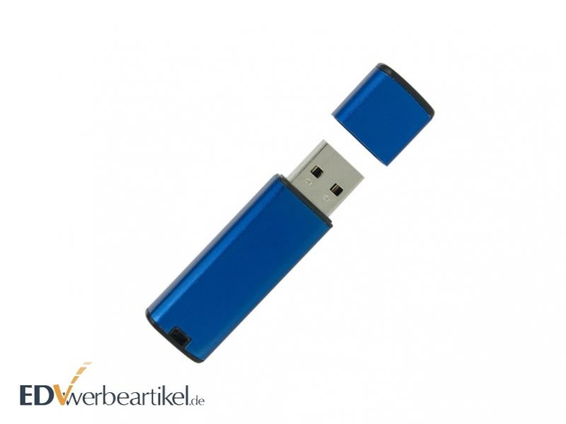 Werbeartikel USB Stick mit Logo blau