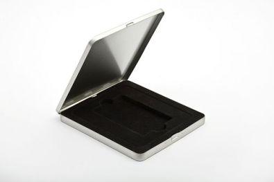 Edle Geschenkverpackung für Ihren USB Stick Werbeartikel: Metalletui Exklusiv