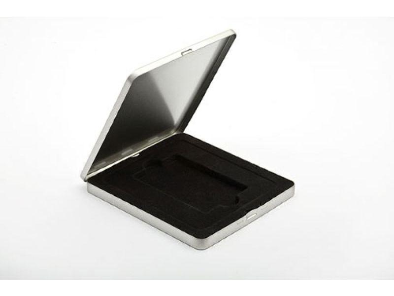 Edles Etui mit schwarzem Samt-Inlay für USB Werbegeschenke