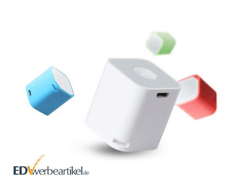 Mini Bluetooth Lautsprecher Werbeartikel CUBE