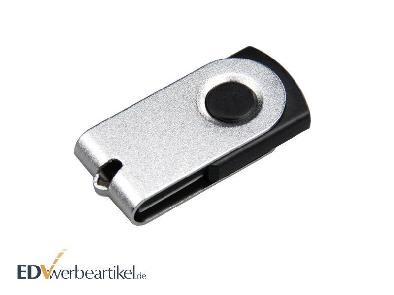 Mini USB Stick Flip Twister mit Logo als Werbemittel oder Werbegeschenk