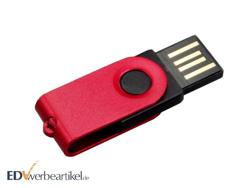 Mini USB Stick Flip Twister mit Logo als Werbeartikel