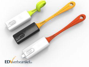 Mini Powerbank Schlüsselanhänger Werbemittel mit Firmenlogo bedrucken
