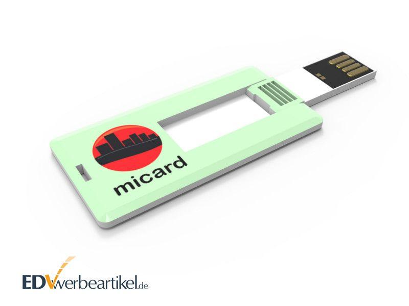 Mini USB Card mit Logodruck