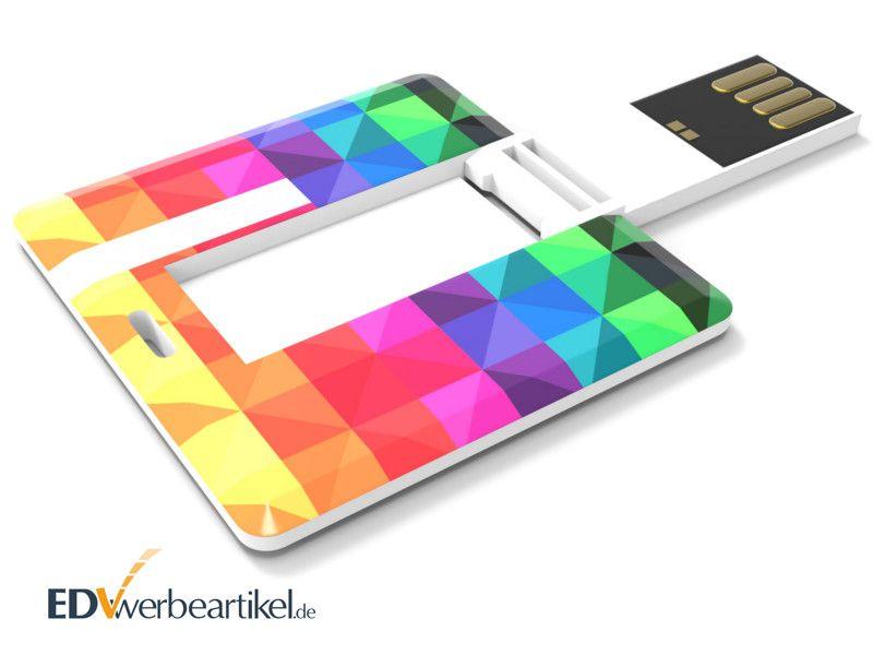 USB Mini Card SQUARE als Visitenkarte Werbeartikel