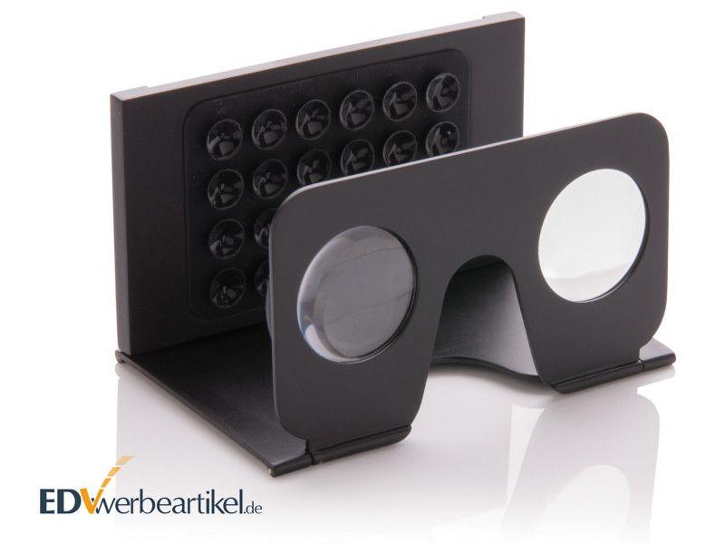 Mini VR Brille mit Logo bedrucken - schwarz