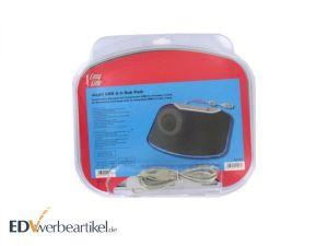 Innovatives Mousepad mit 4 USB Port Hub und Logodruck