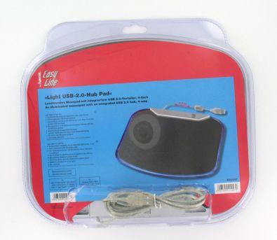 Mauspad mit integriertem 4 Port USB Hub - PC Werbegeschenk