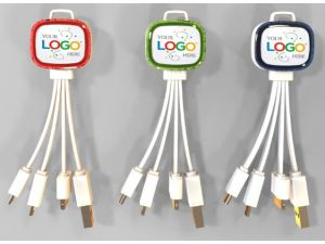 Ladekabel-Set Logo 4-Fach