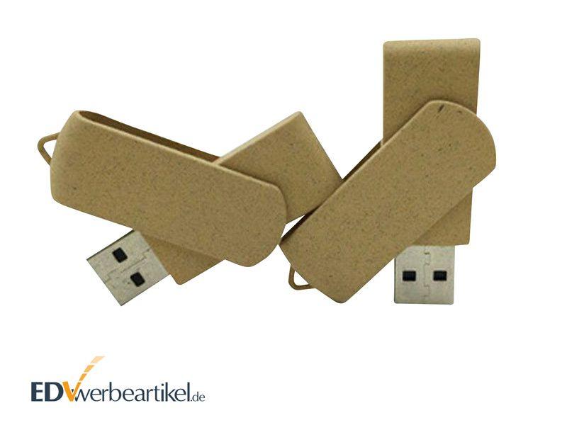 Öko USB Stick TWISTER RECYCLED als grüne Werbemittel
