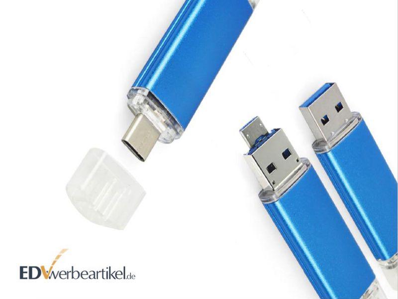 USB-Stick Werbeartikel TRIPLE mit Logo bedrucken