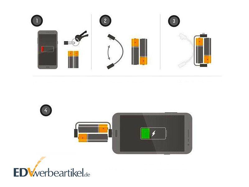 Powerbank Adapter AA BATTERIE Bedienungsanleitung