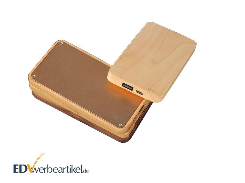 Holz Powerbank bedrucken WHISKEY 4000 - 8000 mAh