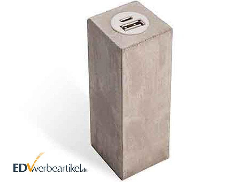Powerbank BETON Quader - viereckig