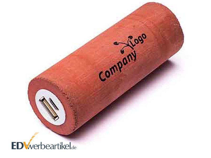 Powerbank BETON in Rot als Werbeartikel