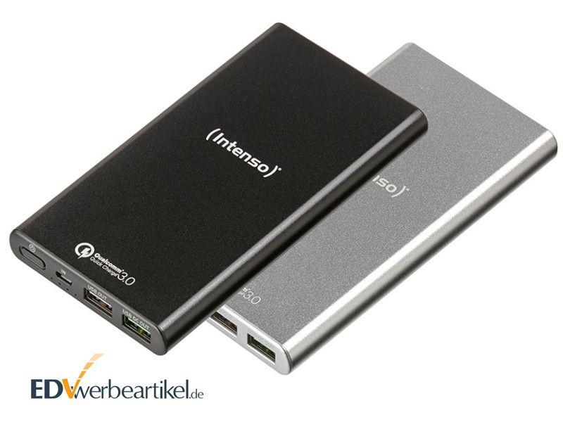Powerbank Intenso Q10000 als Werbegeschenk mit Logo bedrucken