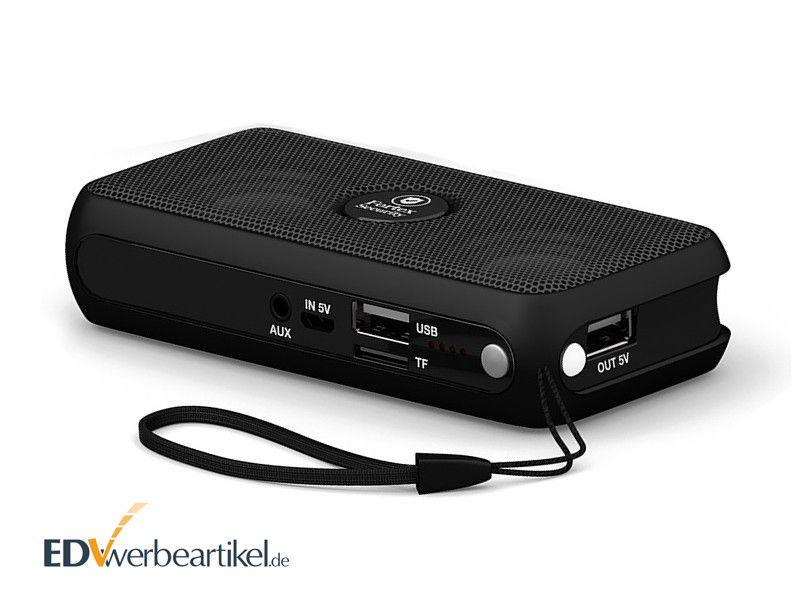 Powerbank mit Lautsprecher Werbeartikel