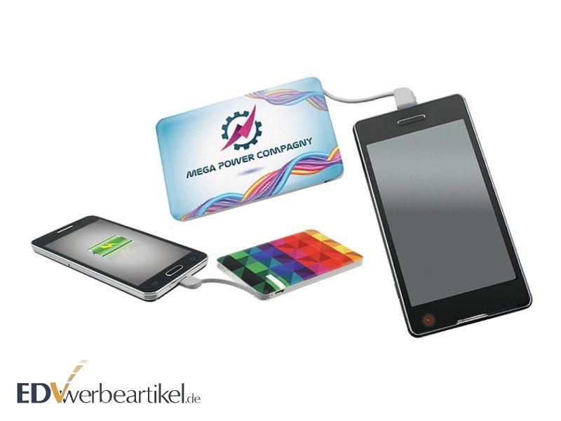 Powerbank in Kreditkartengröße mit Logo