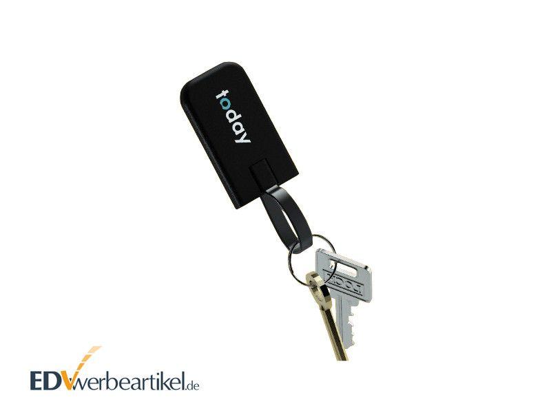 Mini Powerbank Schlüsselanhänger mit Logo bedrucken