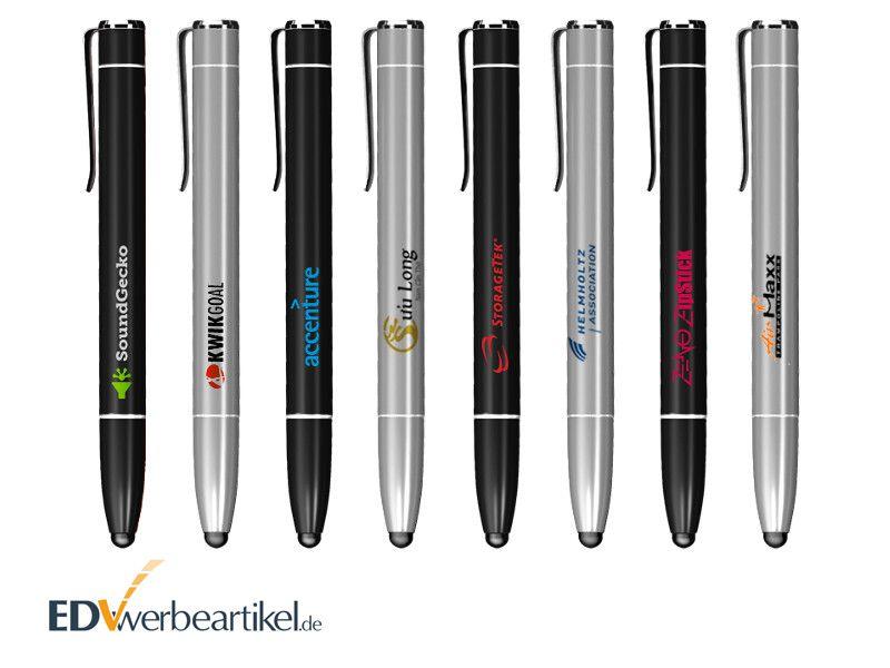 Powerbank Touchpen mit Logo bedrucken - Firmenlogo