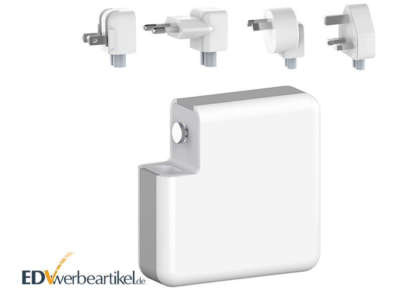 USB Ladegerät mit Powerbank für die Steckdose als Werbegeschenk