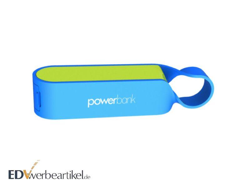 Wasserdichte Powerbank als Werbeartikel mit Schlaufe