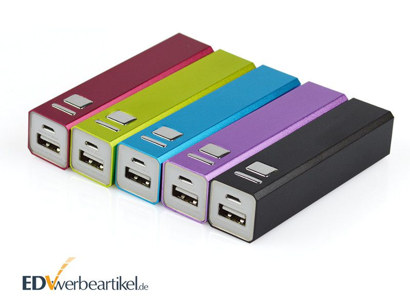Powerbank Werbeartikel günstig preiswert Aluminium rechteckig bedrucken