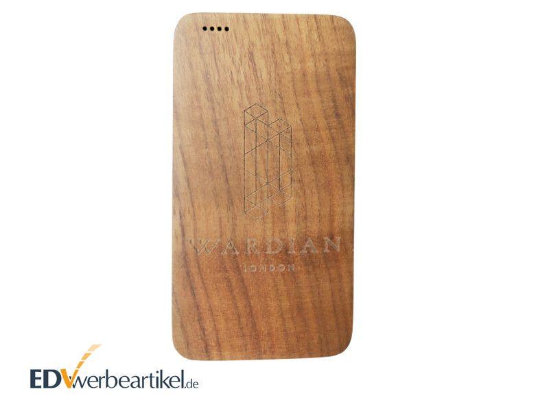 Holz Powerbank als Werbeartikel WHISKEY 4000 - 8000 mAh