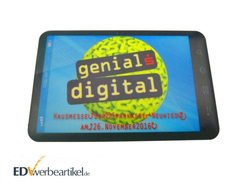 Powerbank Werbeartikel mit Logo als Kreditkarte - Sparkasse Neuwied