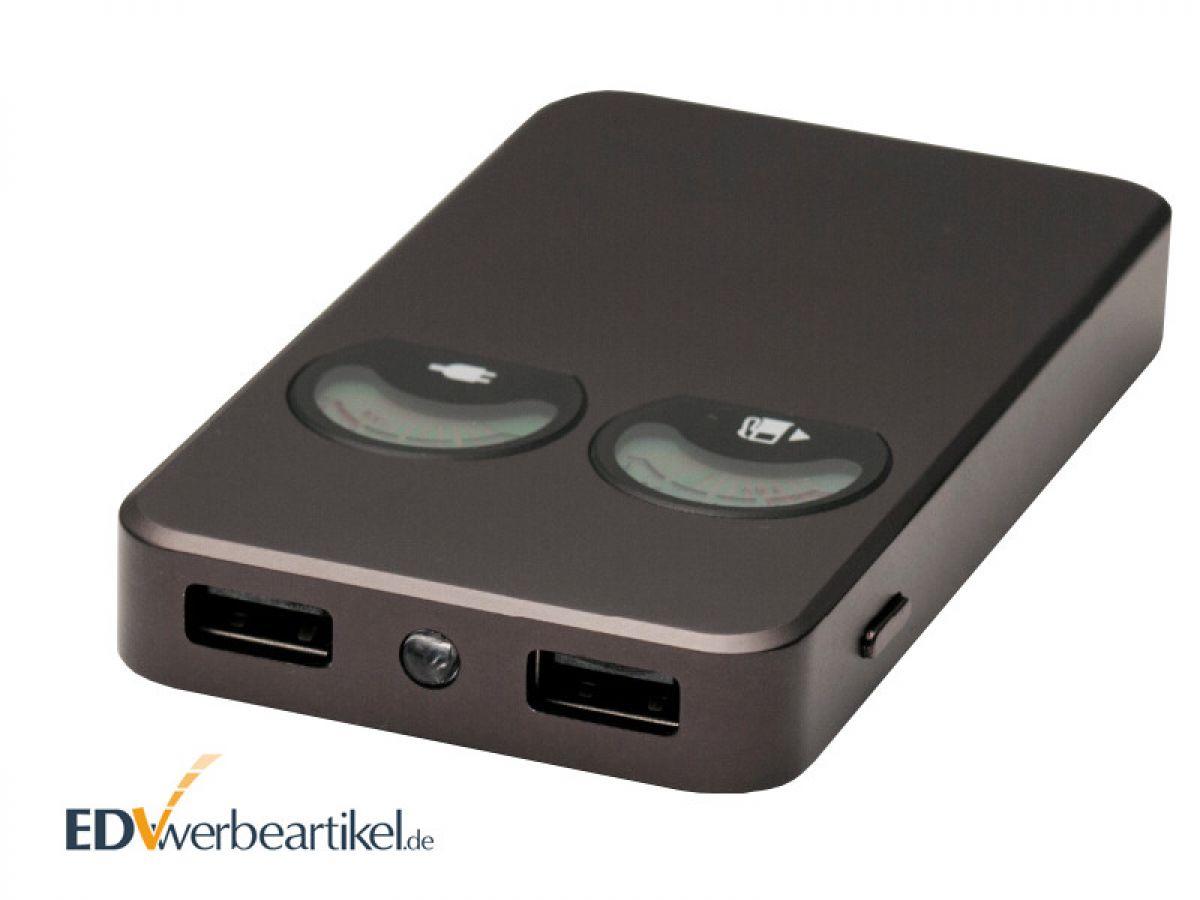 powerbank business mit lcd pointer und tacho akkustand anzeige. Black Bedroom Furniture Sets. Home Design Ideas