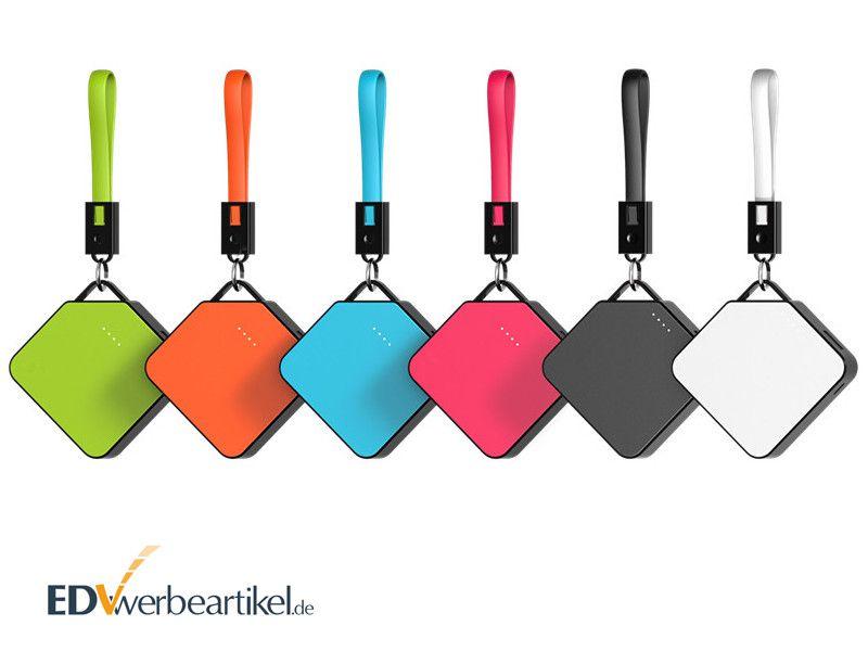 Powerbank Werbegeschenk mit Ladekabel - CLEVER 4000 mAh