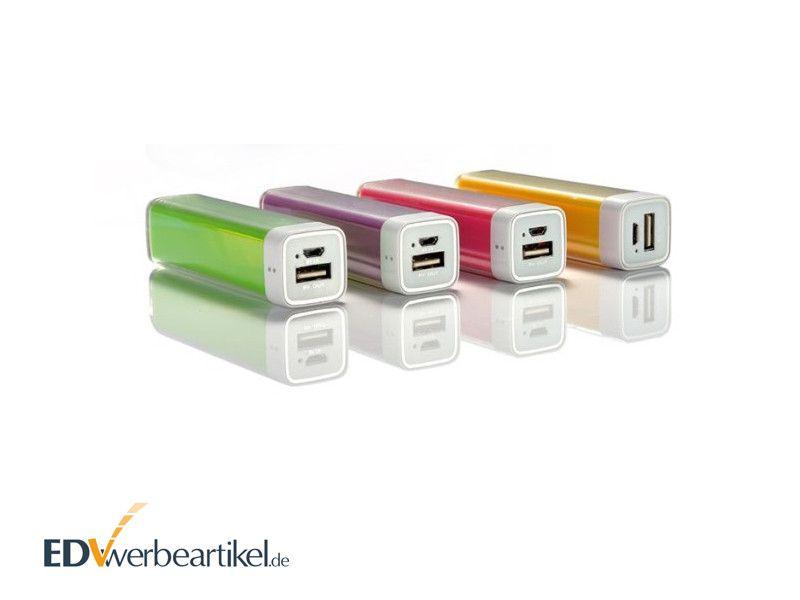 Powerbank Werbemittel transparenter Kunststoff LIPSTICK